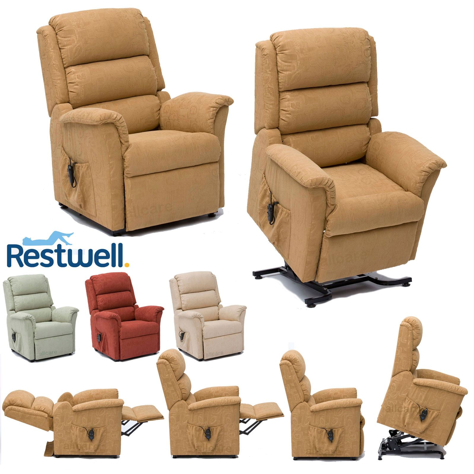 Fabulous Details About Restwell Nevada Fabric Electric Riser Recliner Chair Dual Motor Mobility Lift Ocoug Best Dining Table And Chair Ideas Images Ocougorg