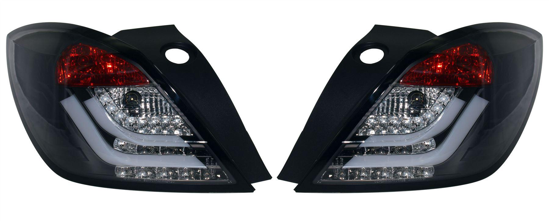 Image is loading Vauxhall-ASTRA-H-MK5-3-DOOR-CRYSTAL-BLACK-  sc 1 st  eBay & Vauxhall ASTRA H MK5 3 DOOR CRYSTAL BLACK LED REAR BACK TAIL LIGHTS ...