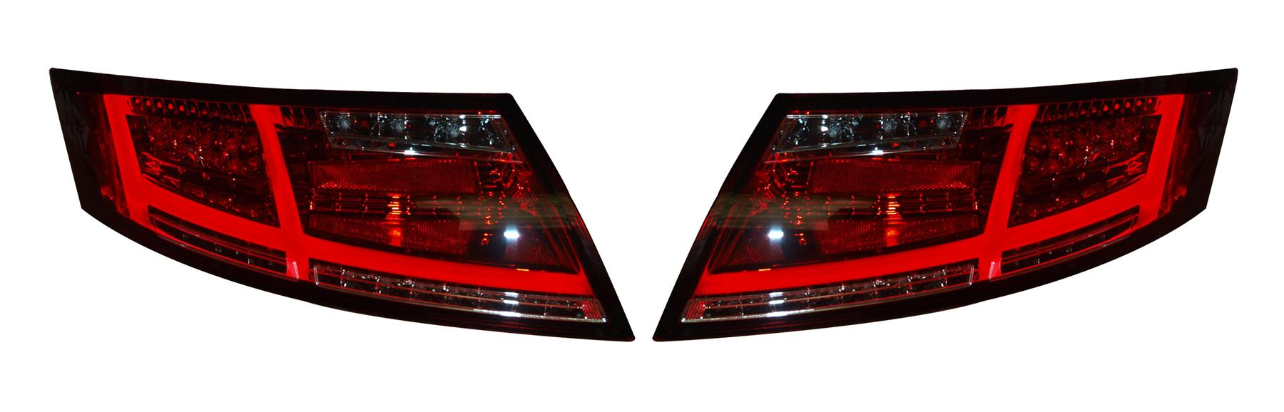 Audi Tt Mk2 2006 2013 Red Clear Led Tail Lights 163 389