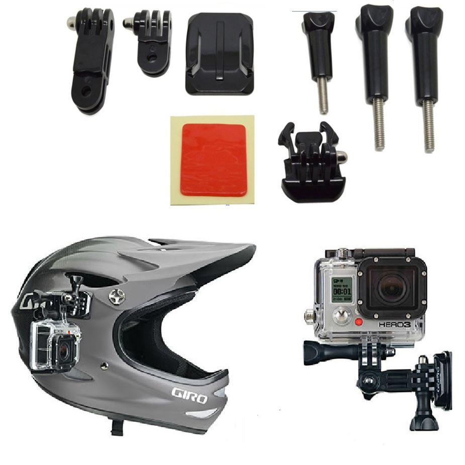 Casco de adhesivo de ajuste de curvas Kit de montaje lateral para GoPro HD Hero 1 2 3 3 UK