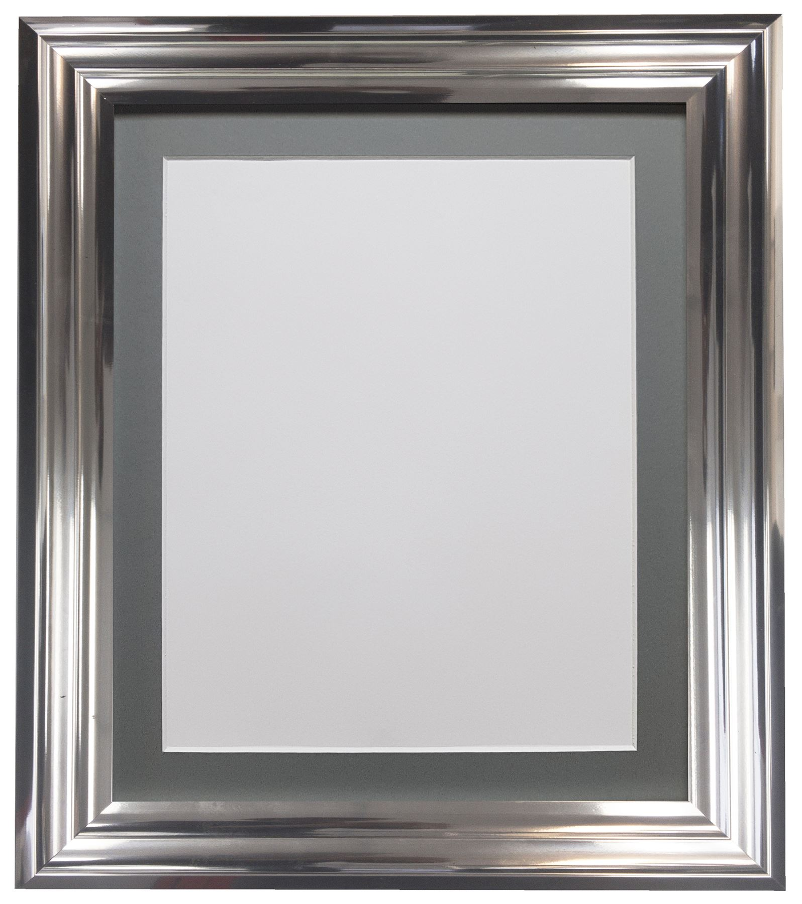Firenza Bright Silver Picture Photo Frame With Coloured Mounts Dark ...