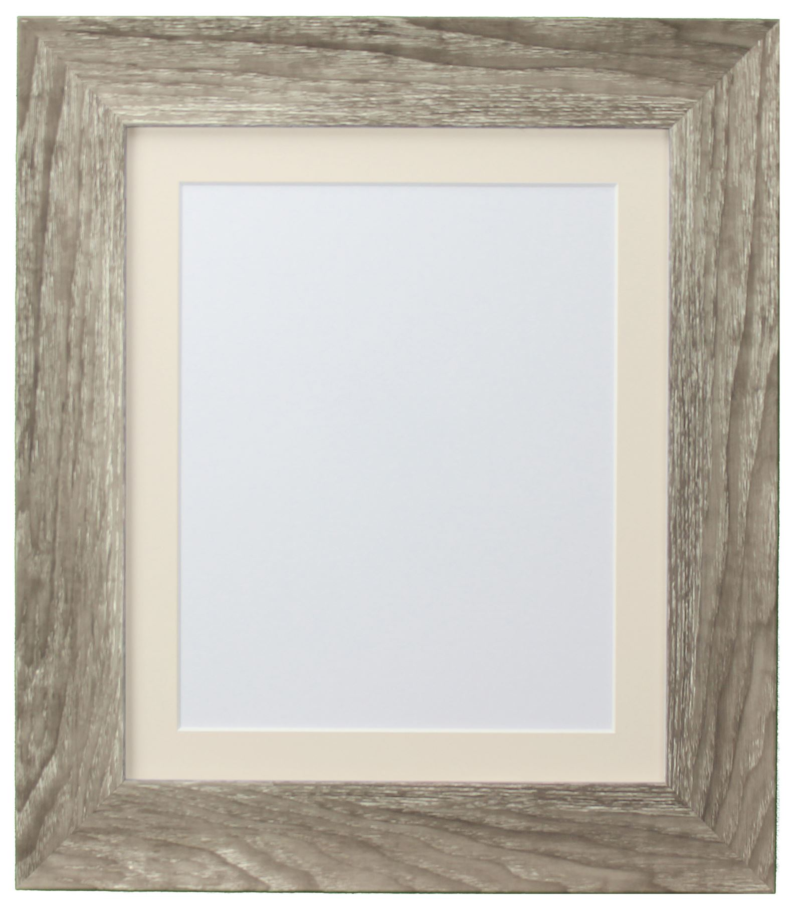 Hygge Grey Ash Picture Photo Frame With Coloured Mounts Ivory Mount ...