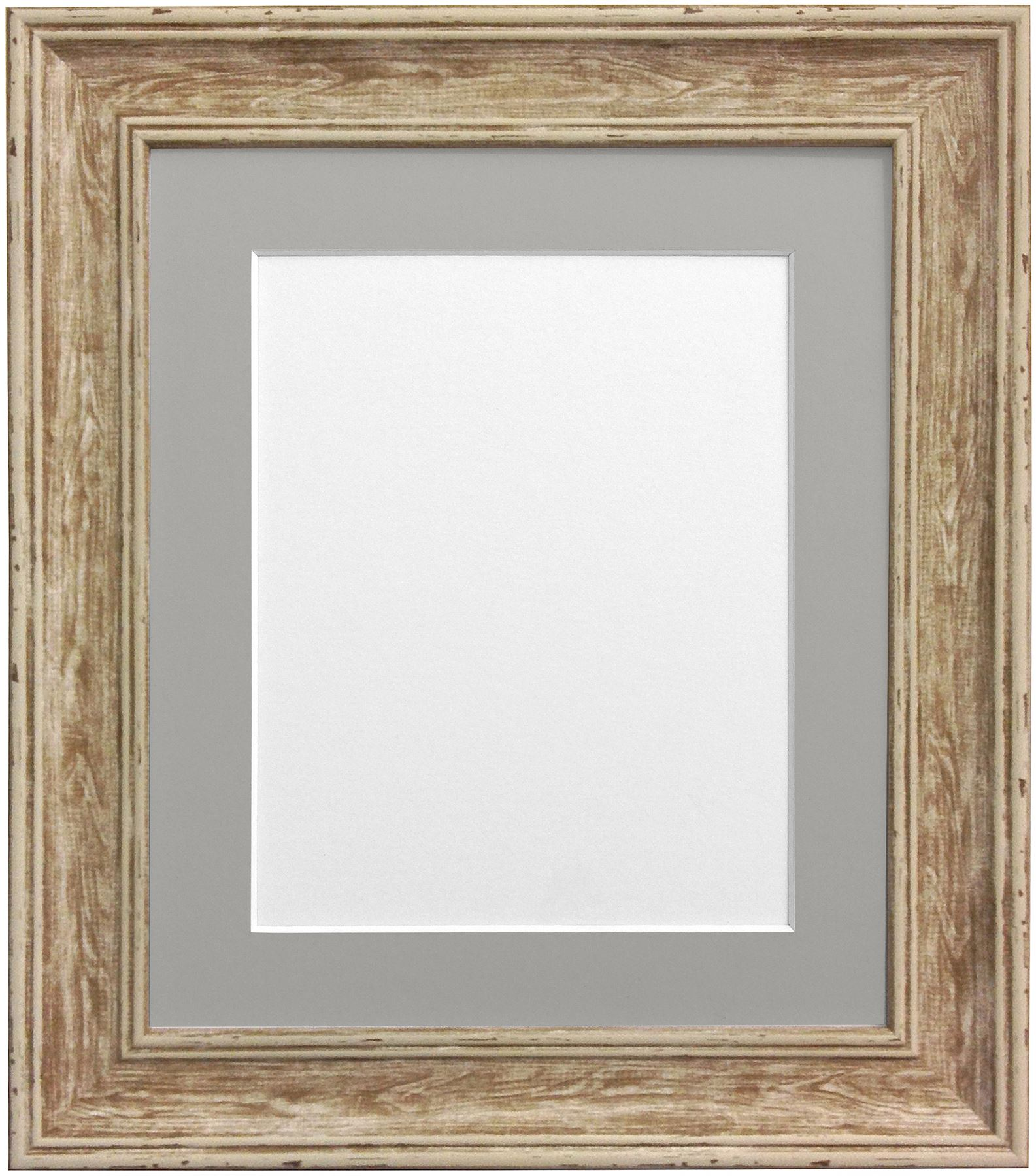 Scandi Distressed Wood Picture Photo Frame With Black White & 5 ...