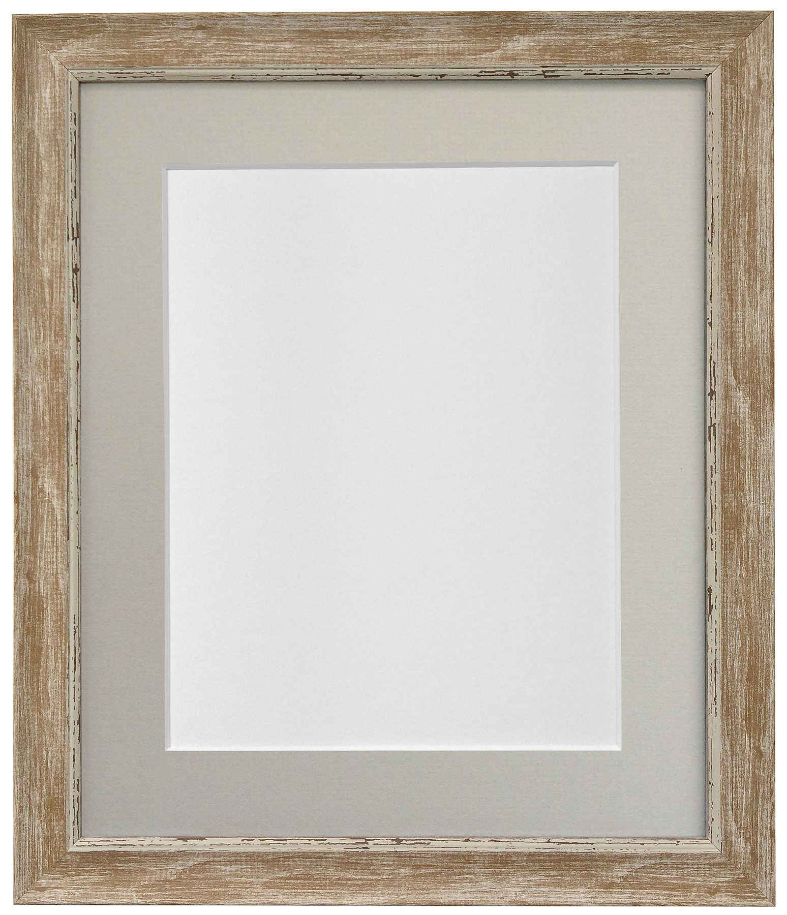 Nordic Distressed Wood Picture Photo Frames & a choice of 7 colour ...