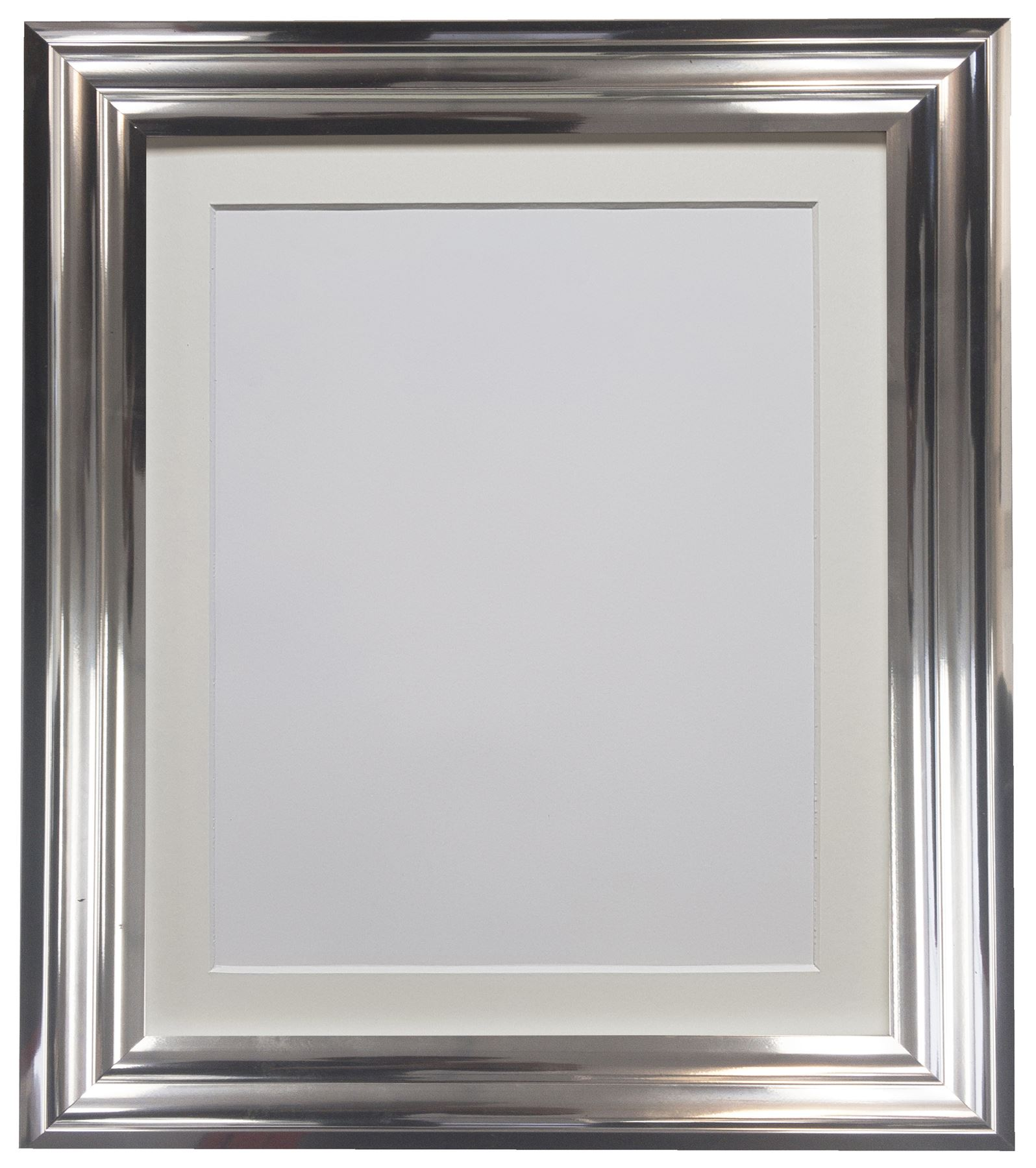 Firenza Bright Silver Picture Photo Frame With Coloured Mounts Ivory ...