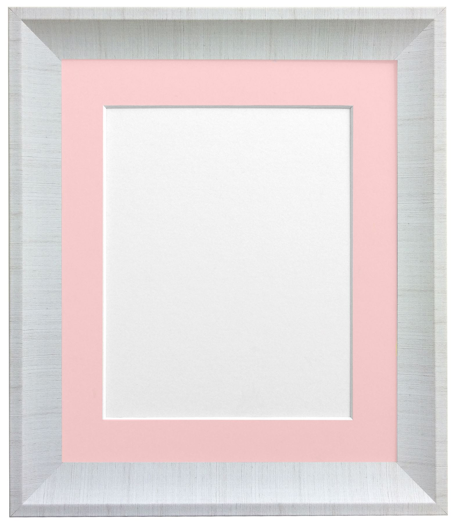 Linen Picture Photo Frames With Mounts in 7 Colours 45 X 17mm ...