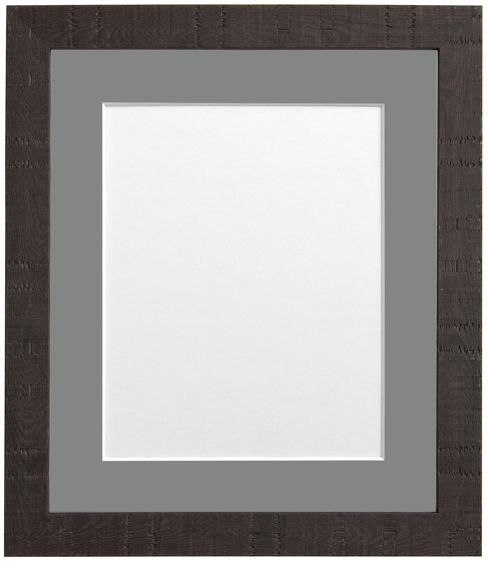 Deep Grain Dark Brown Picture Photo Frames With Choice of Seven ...