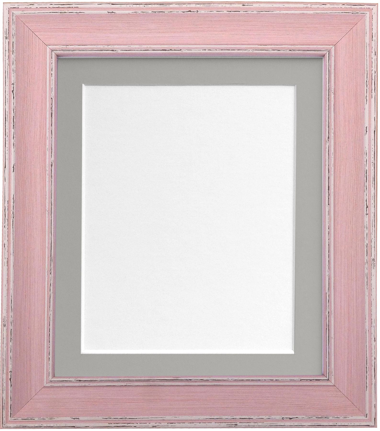 Scandi Distressed Pink Picture Photo Frame With Black White & 5 ...