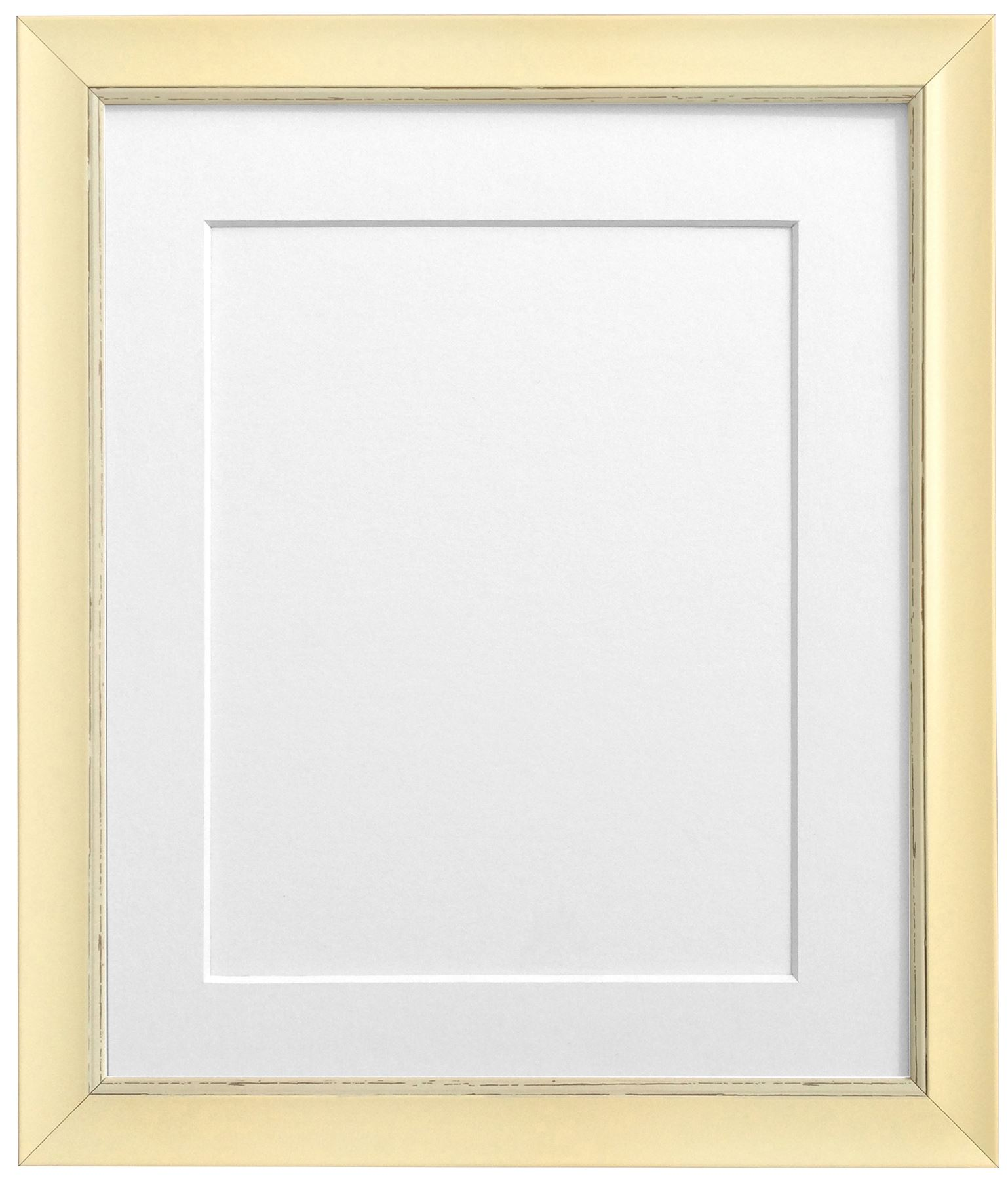 Nordic Distressed Cream Picture Photo Frame With Mounts White Mount ...