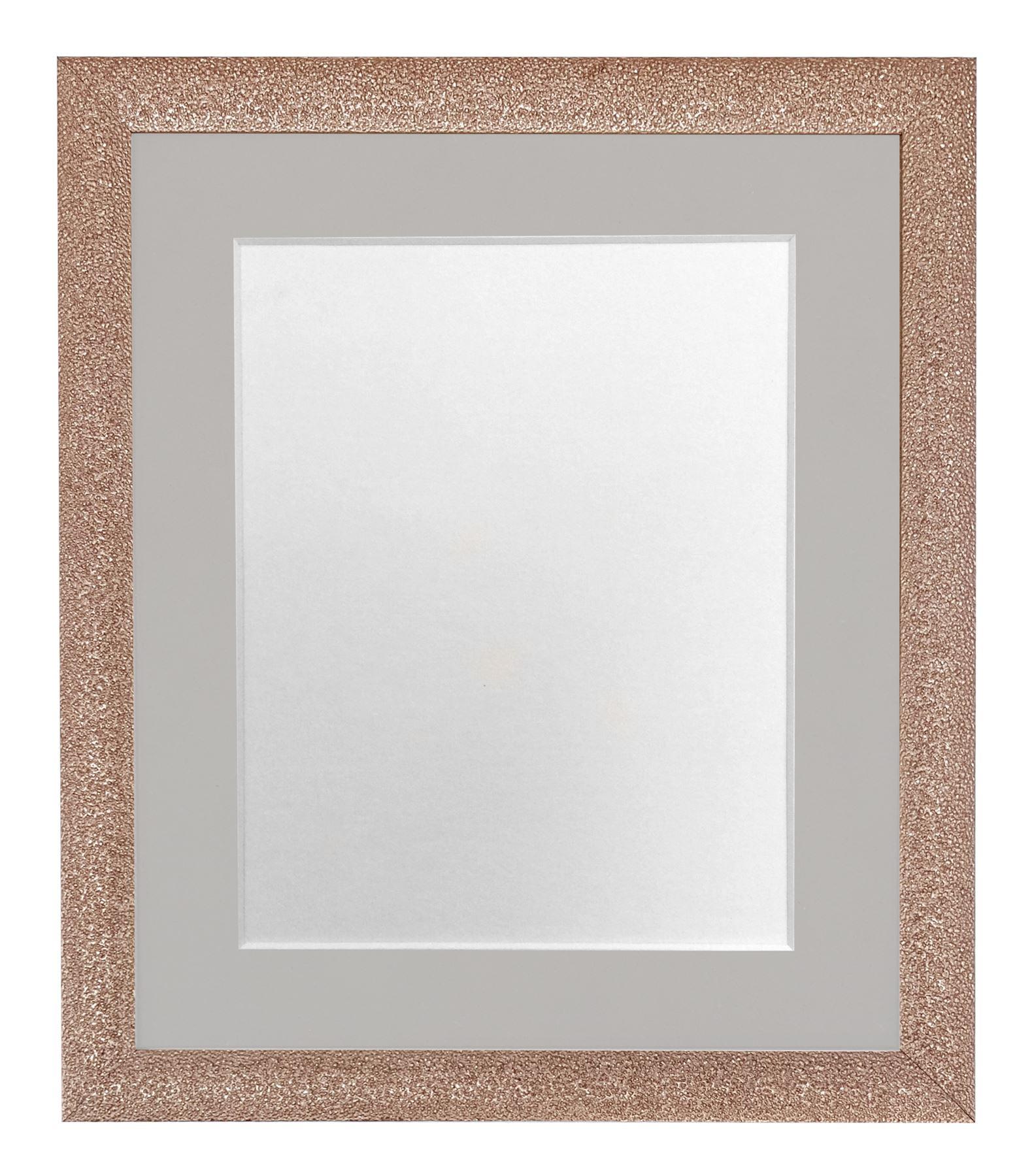 Glitz rose gold picture photo frames with white black and for Cornici amazon