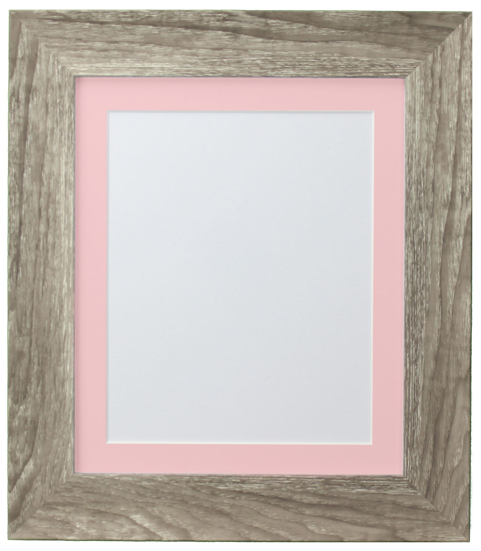 Hygge Grey Ash Picture Photo Frame With Coloured Mounts Pink Mount ...