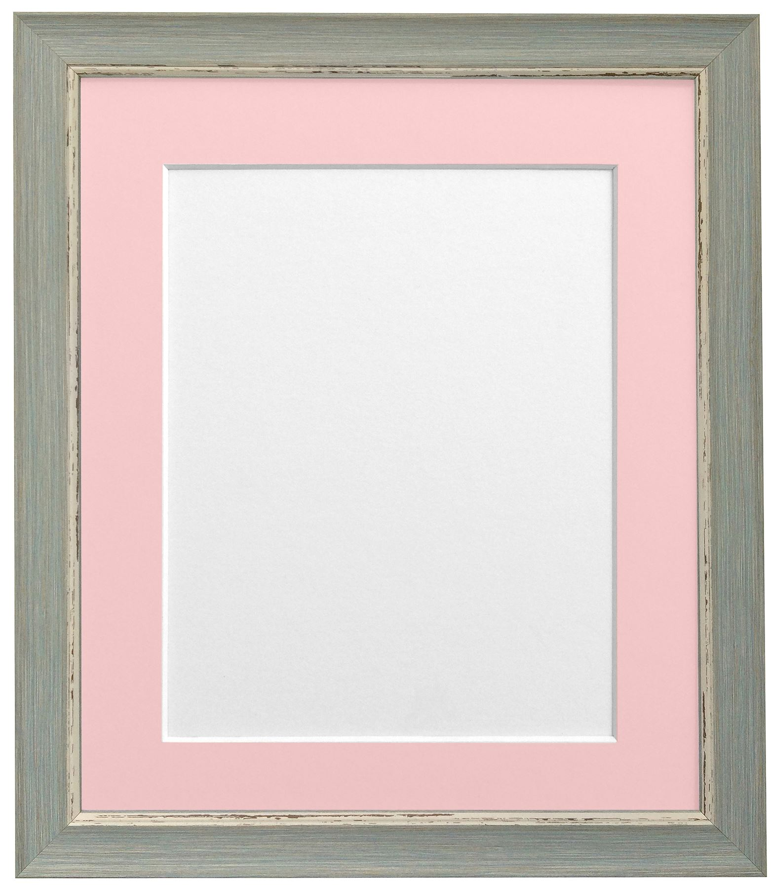 Nordic Distressed Blue Picture Photo Frames With Selection of Acid ...