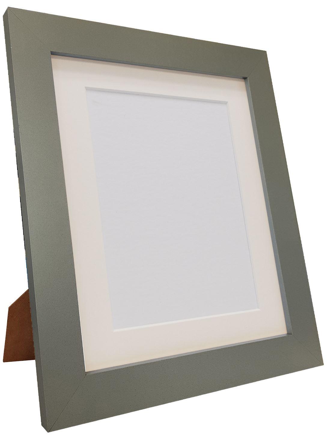 Metro Dark Grey Picture Photo Frame With Black White Or Ivory Mount