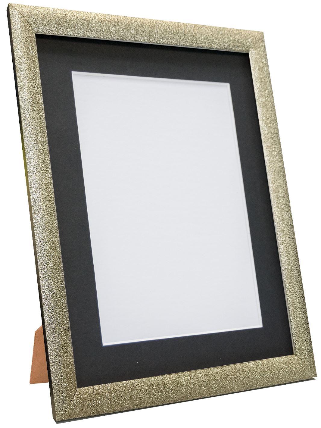 Glitz Champagne Silver Picture Photo Frame with White Black and Colour Mount