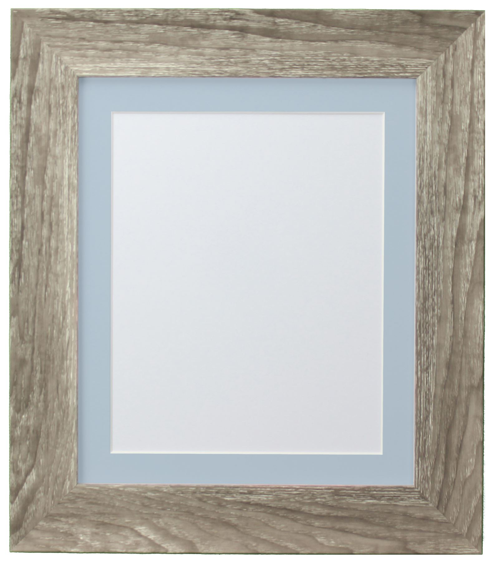 Hygge Grey Ash Picture Photo Frame With Coloured Mounts Blue Mount ...