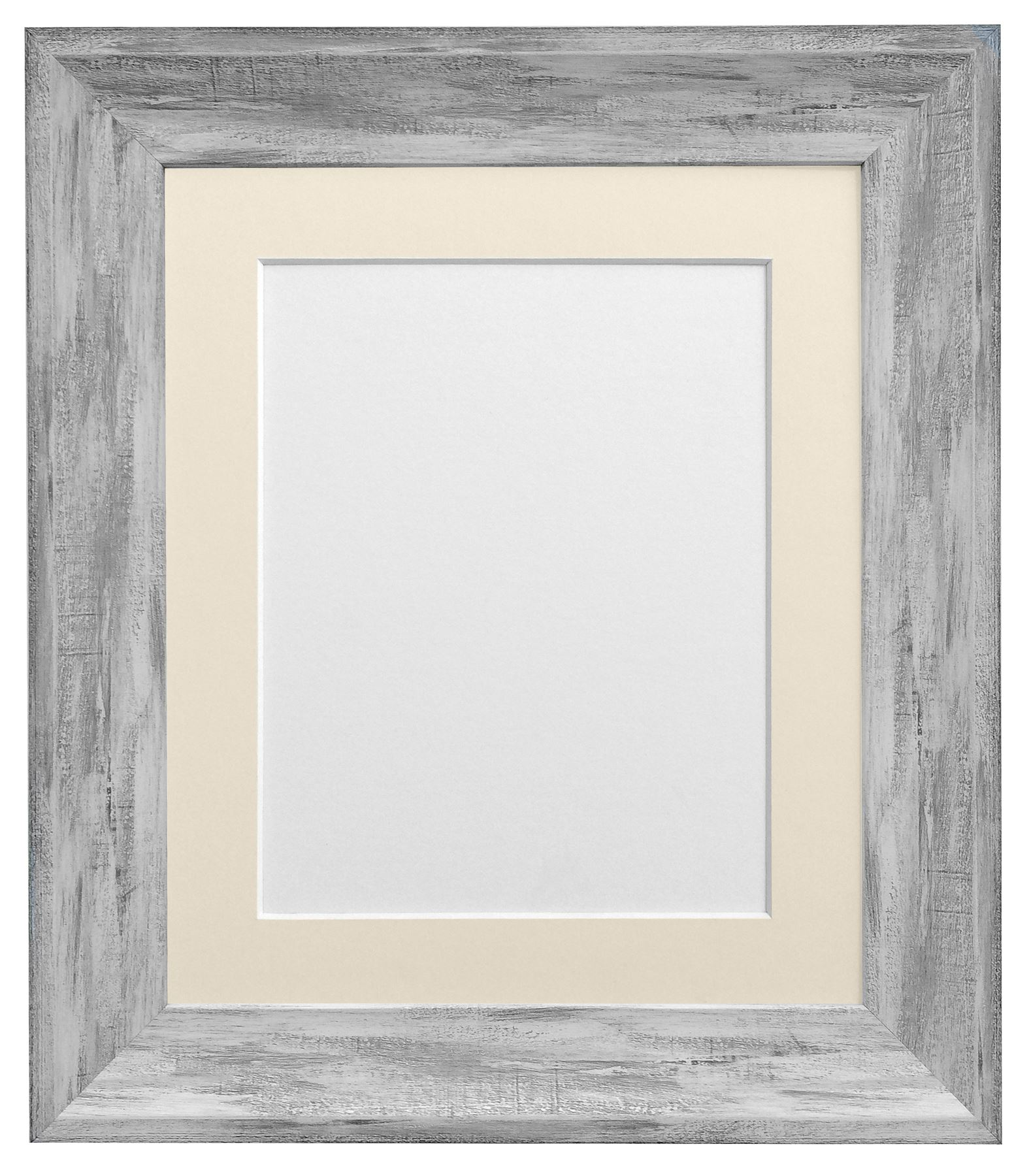 Linen Black With White Wash Picture Photo Frame With Mounts Ivory ...