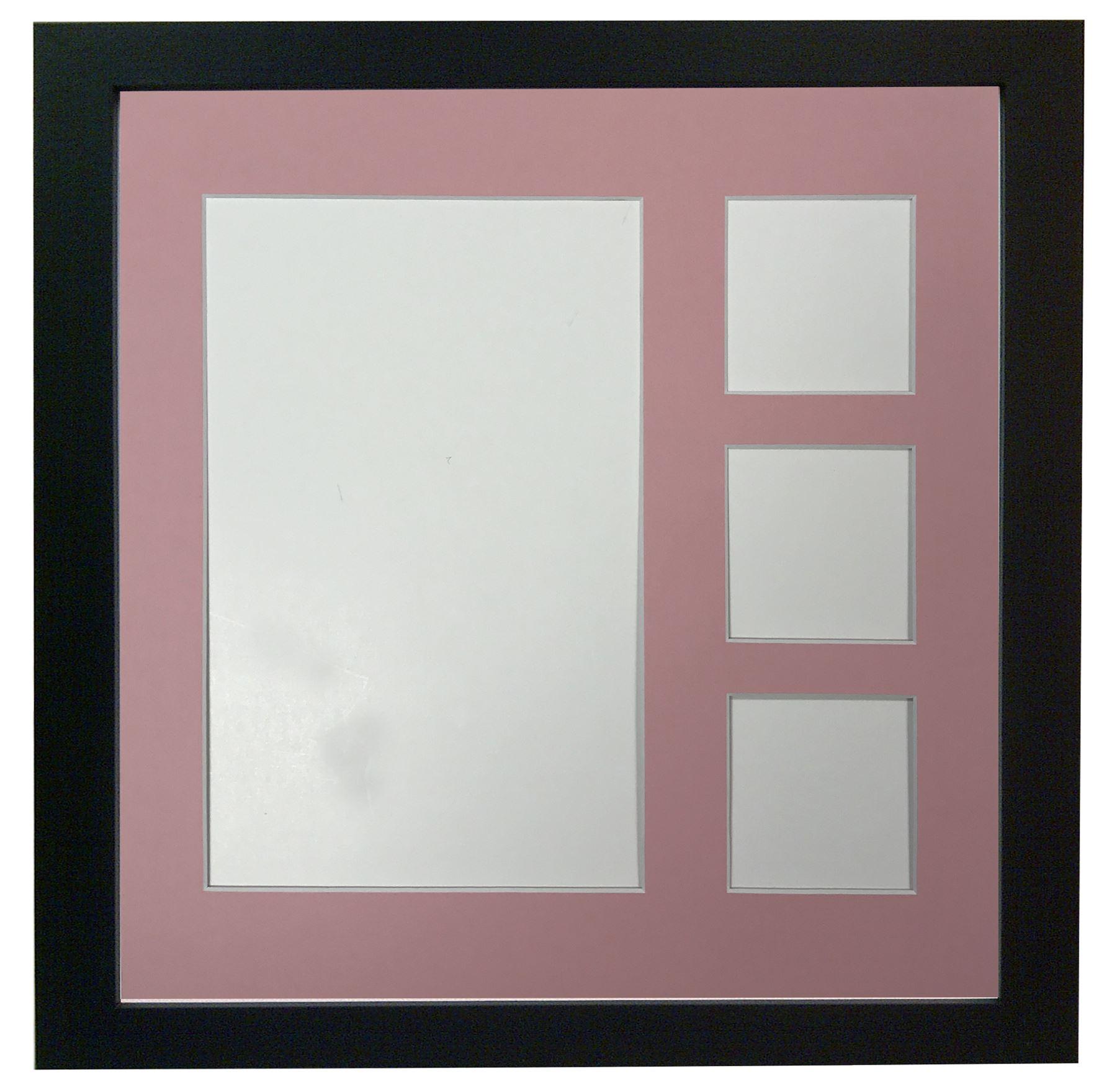 Multi Image Collage Picture Photo frames 40x40cm & Coloured Mounts ...