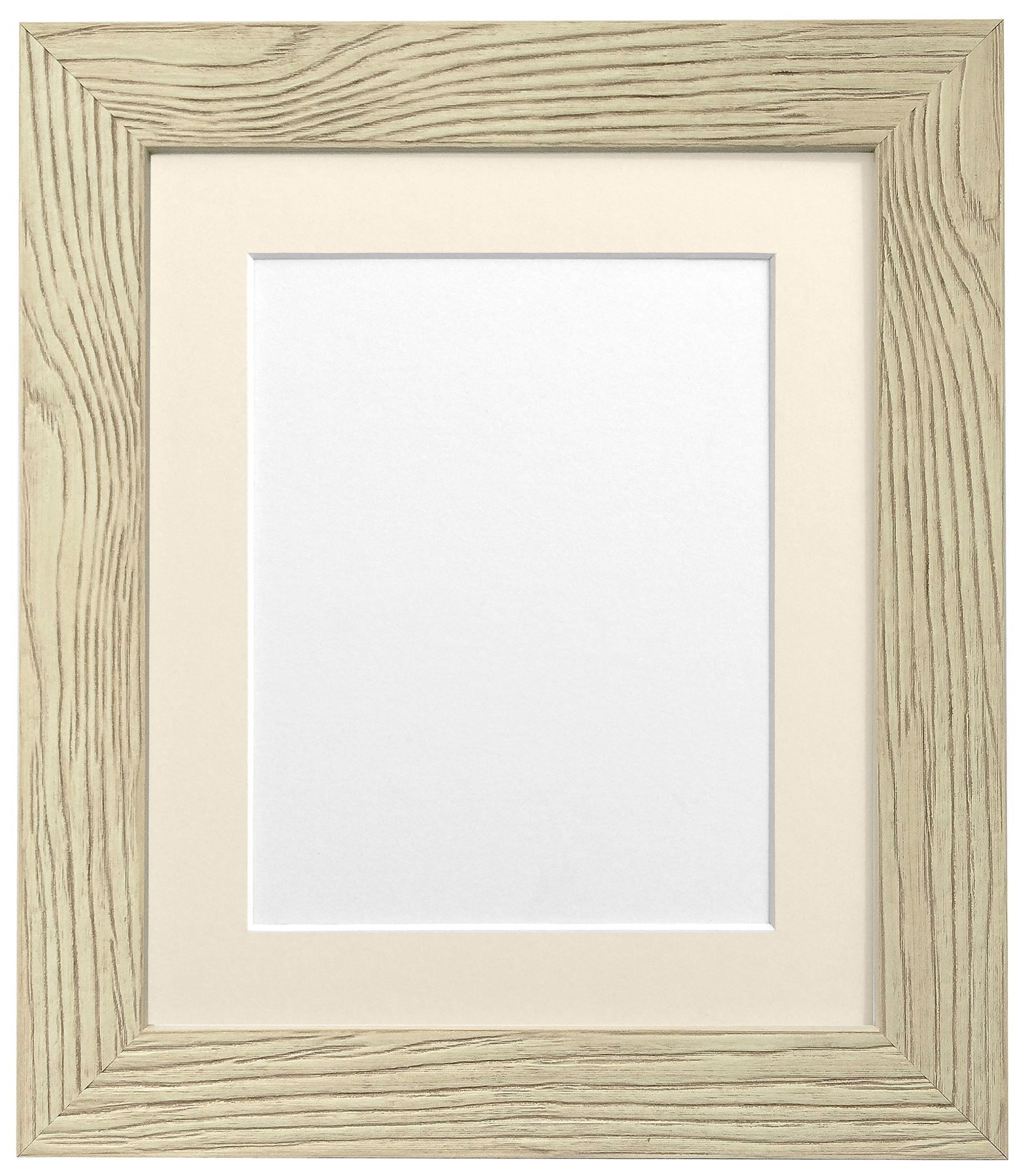 Weathered Grain Cream Picture Photo Frame with Black,White and ...