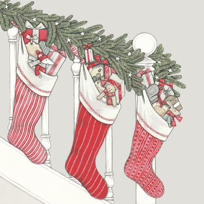 Luxury Christmas Stockings Uk.Details About Christmas Stockings 8 X Luxury Christmas Card Envelopes Sally Swannell