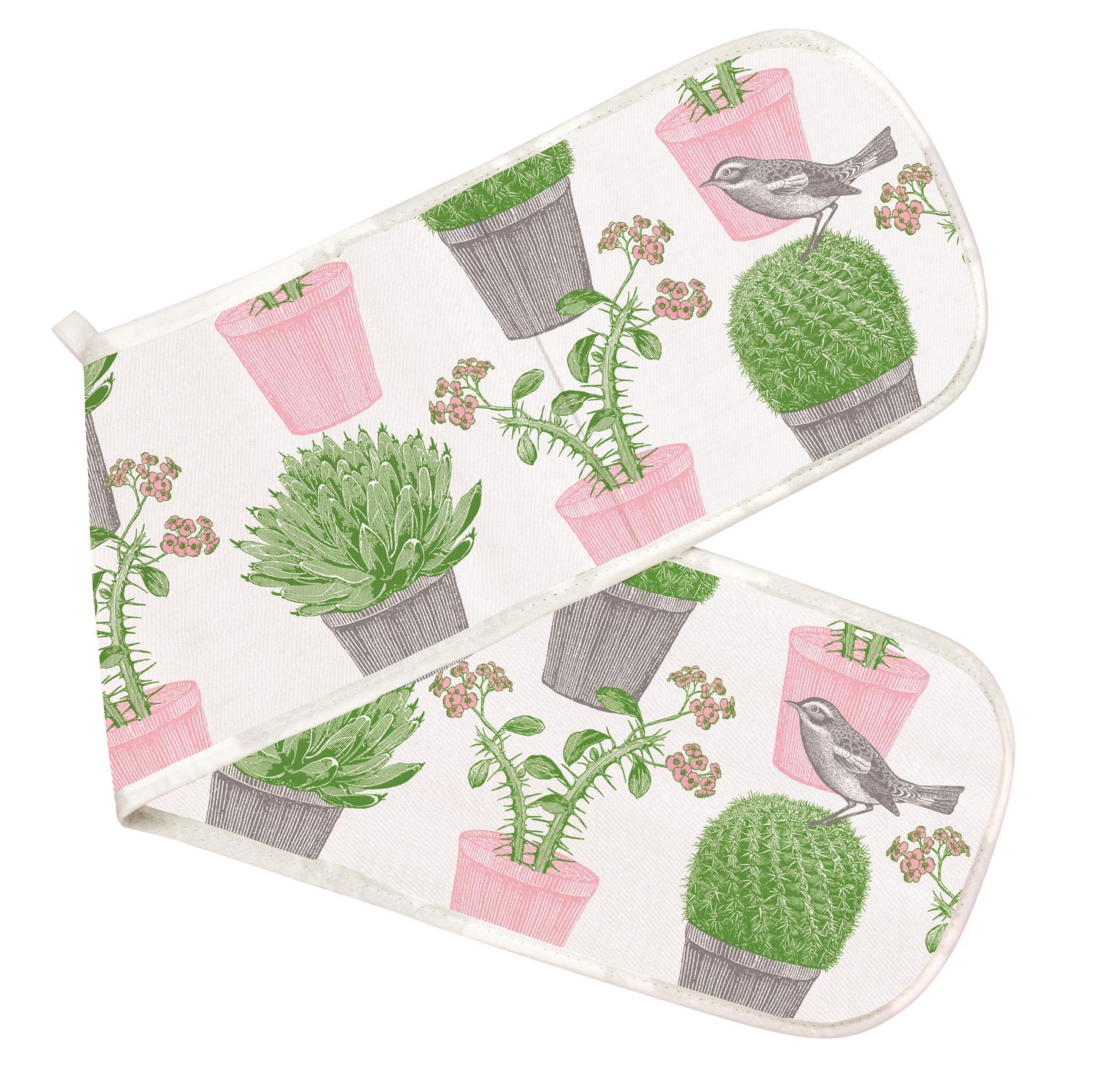 Thornback /& Peel 100/% Cotton Double Oven Glove//Mitt Pink Jelly /& Cake