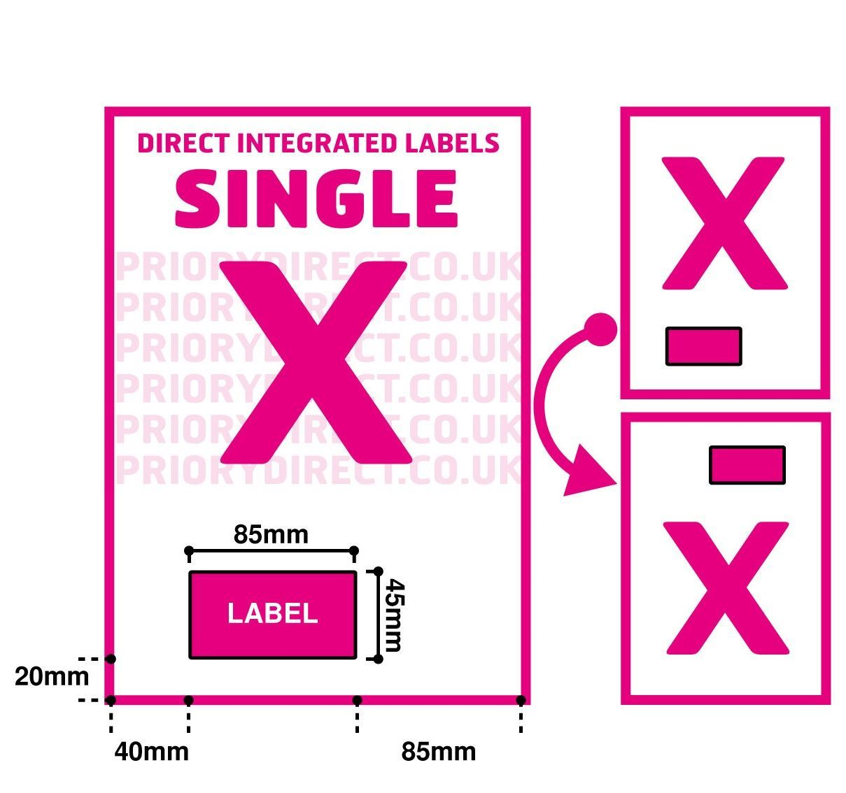 A Integrated Label Invoice Paper Sticky Address Sheets Single X EBay - Integrated label invoice paper