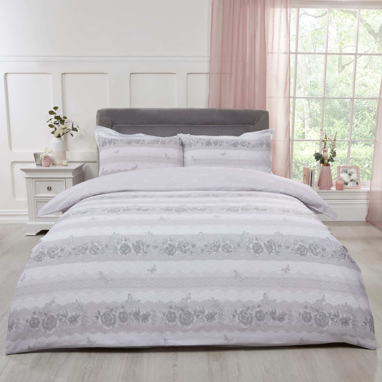 Bedding Sets Duvet Covers Stars Grey White Blush Pink Reversible Polycotton Bedding Duvet Cover Pillowcase Home Furniture Diy Tohoku Morinagamilk Co Jp