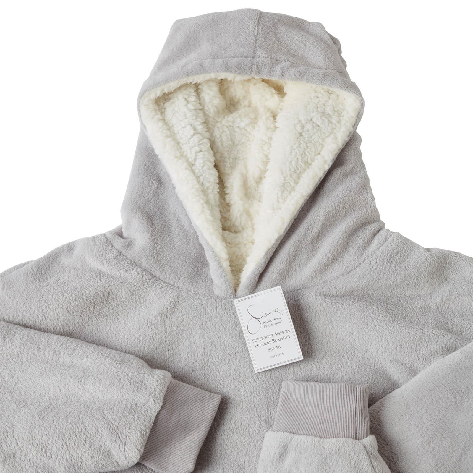 Sienna-Hoodie-Blanket-Oversized-Ultra-Plush-Sherpa-Giant-Big-Hooded-Sweatshirt thumbnail 19