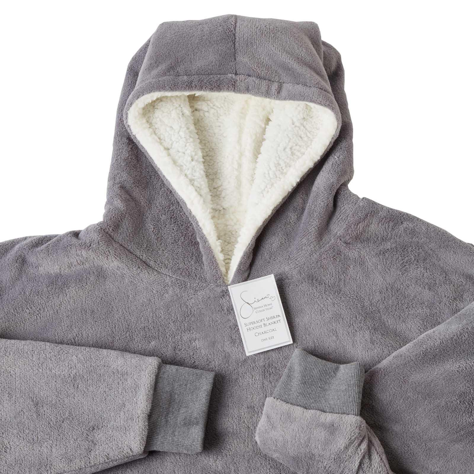 Sienna-Hoodie-Blanket-Oversized-Ultra-Plush-Sherpa-Giant-Big-Hooded-Sweatshirt thumbnail 12
