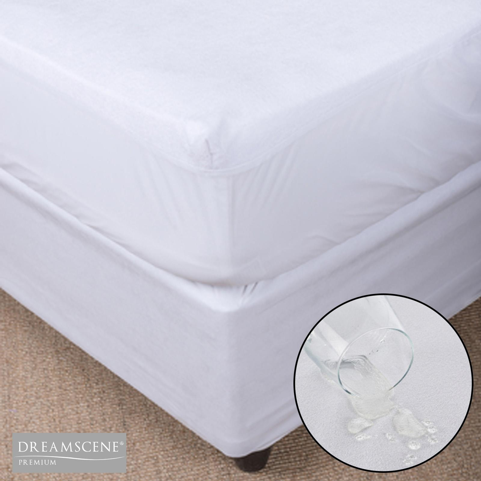 100/% Waterproof Terry Towel Mattress Protector Fitted Sheet Cover King All Sizes