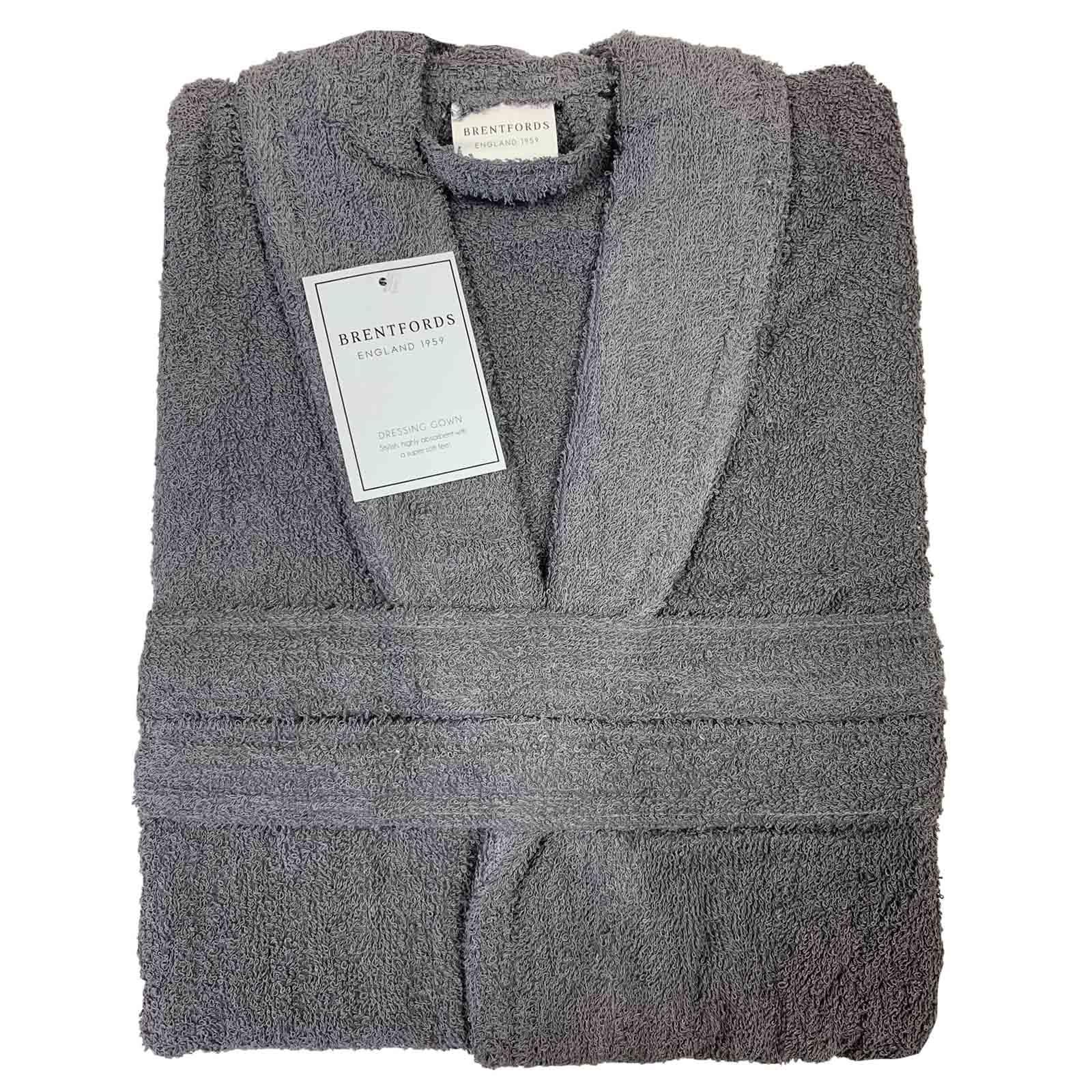 thumbnail 14 - Brentfords Luxury 100% Cotton Bath Robe Terry Towel Soft Dressing Gown Unisex
