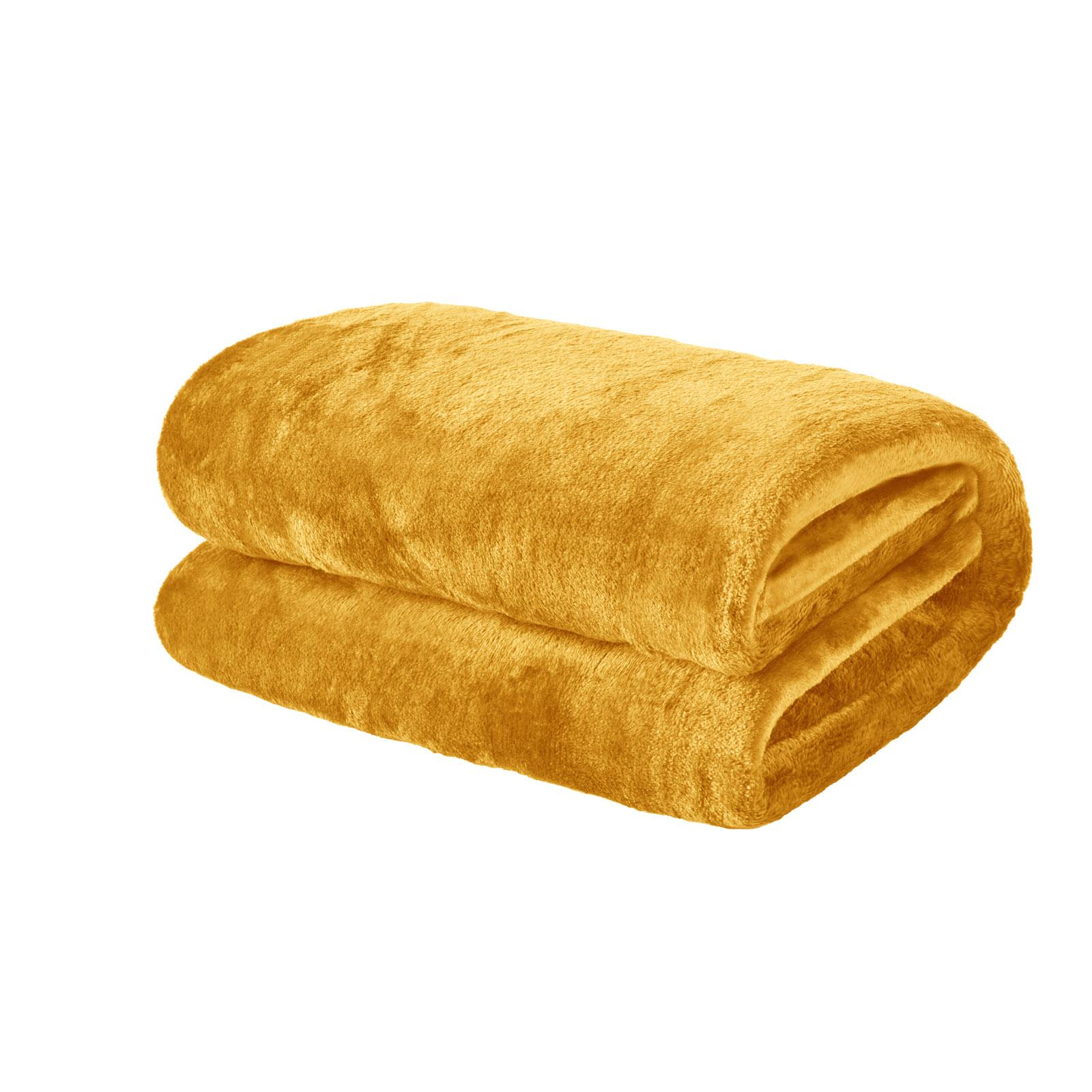 thumbnail 18 - Brentfords Large Flannel Fleece Bed Blanket Warm Throw Over Ultra Soft Bed Sofa