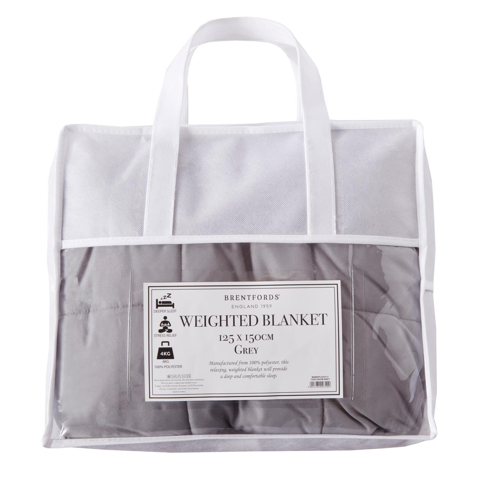 thumbnail 10 - Brentfords Weighted Blanket Sensory Sleep Therapy Anxiety Kids/Adults Blush Grey