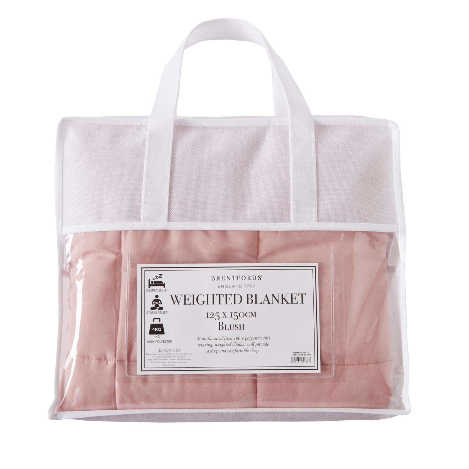 Brentfords-Weighted-Blanket-Sensory-Sleep-Therapy-Anxiety-Kids-Adults-Blush-Grey thumbnail 8