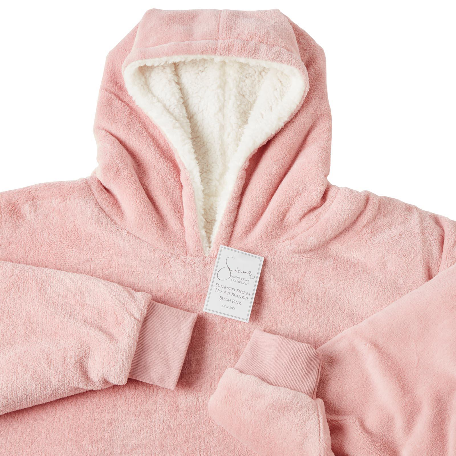 Sienna-Hoodie-Blanket-Oversized-Ultra-Plush-Sherpa-Giant-Big-Hooded-Sweatshirt thumbnail 5