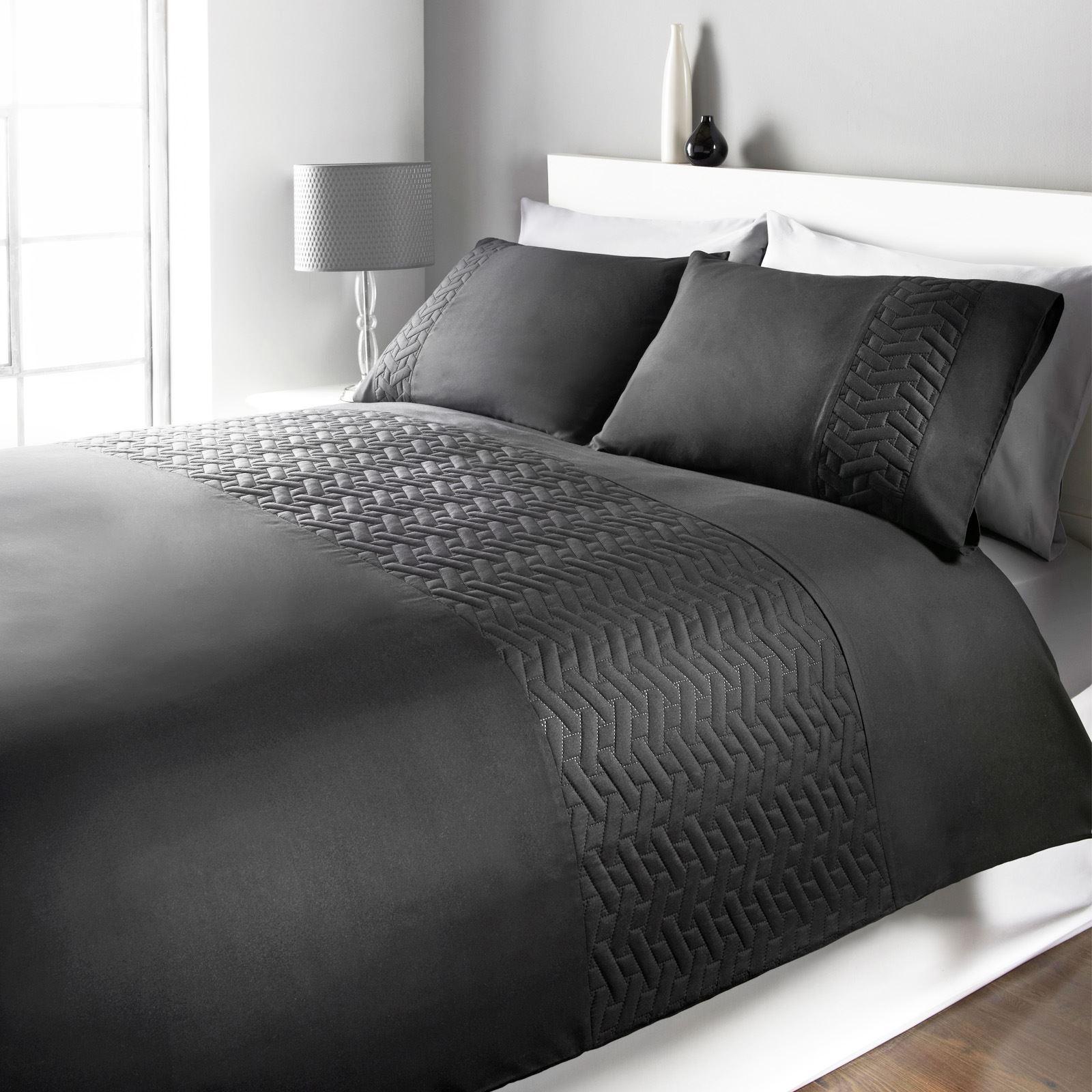 Brentfords-Pinsonic-Stripe-Duvet-Cover-with-Pillow-Case-Bedding-Set-Blush-Silver thumbnail 8