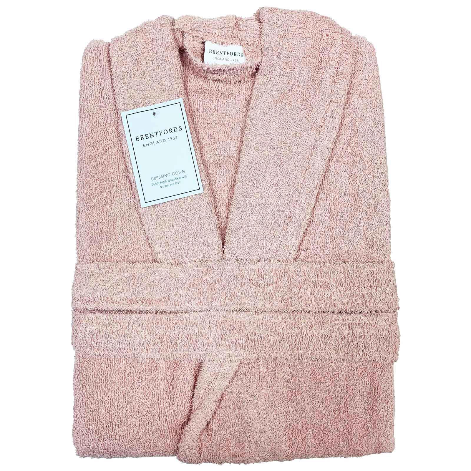 thumbnail 10 - Brentfords Luxury 100% Cotton Bath Robe Terry Towel Soft Dressing Gown Unisex