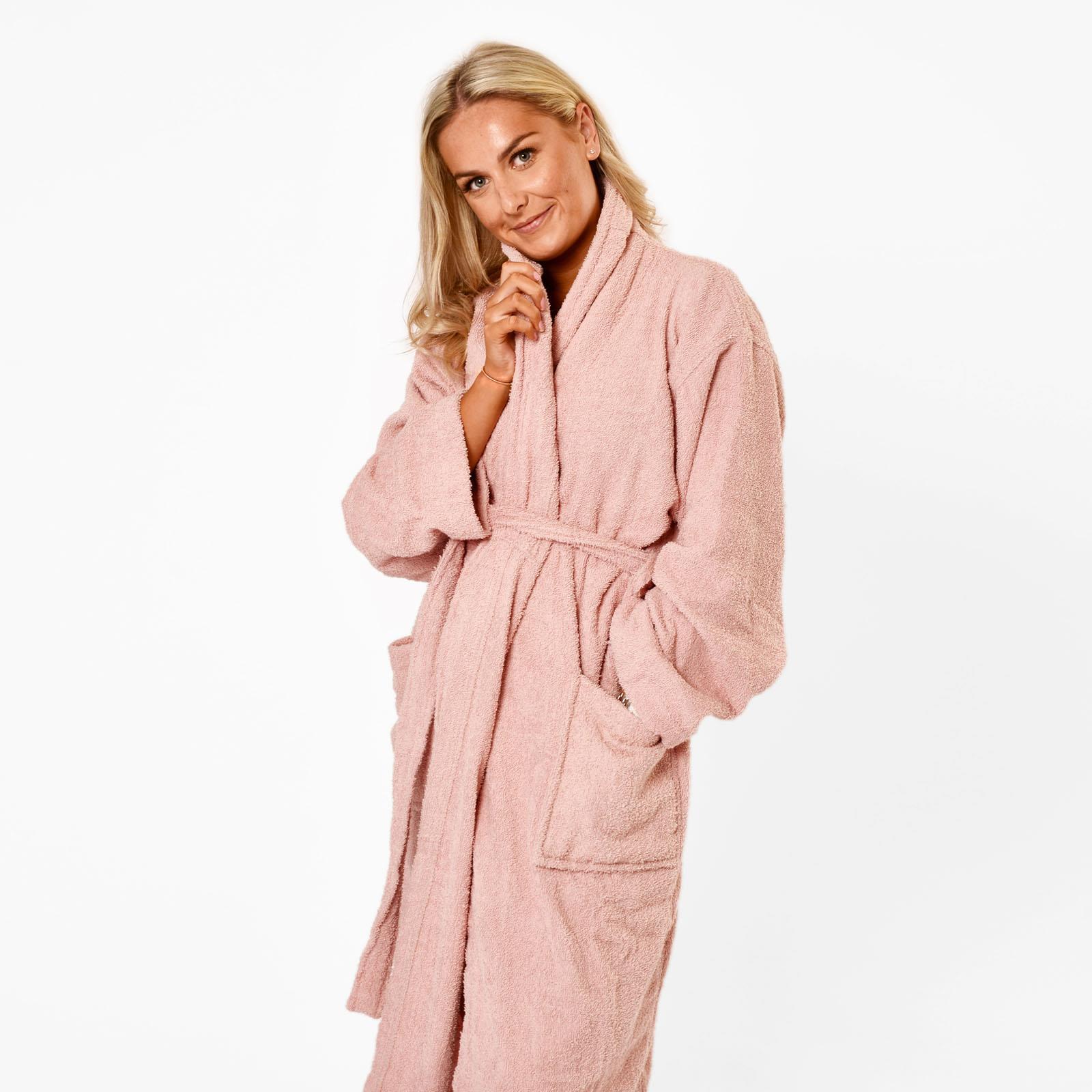 thumbnail 8 - Brentfords Luxury 100% Cotton Bath Robe Terry Towel Soft Dressing Gown Unisex