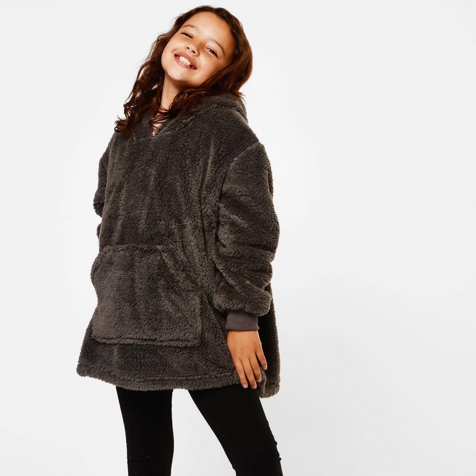 thumbnail 21 - Brentfords-Teddy-Fleece-Hoodie-Blanket-Oversized-Giant-Wearable-Adults-Kids-UK