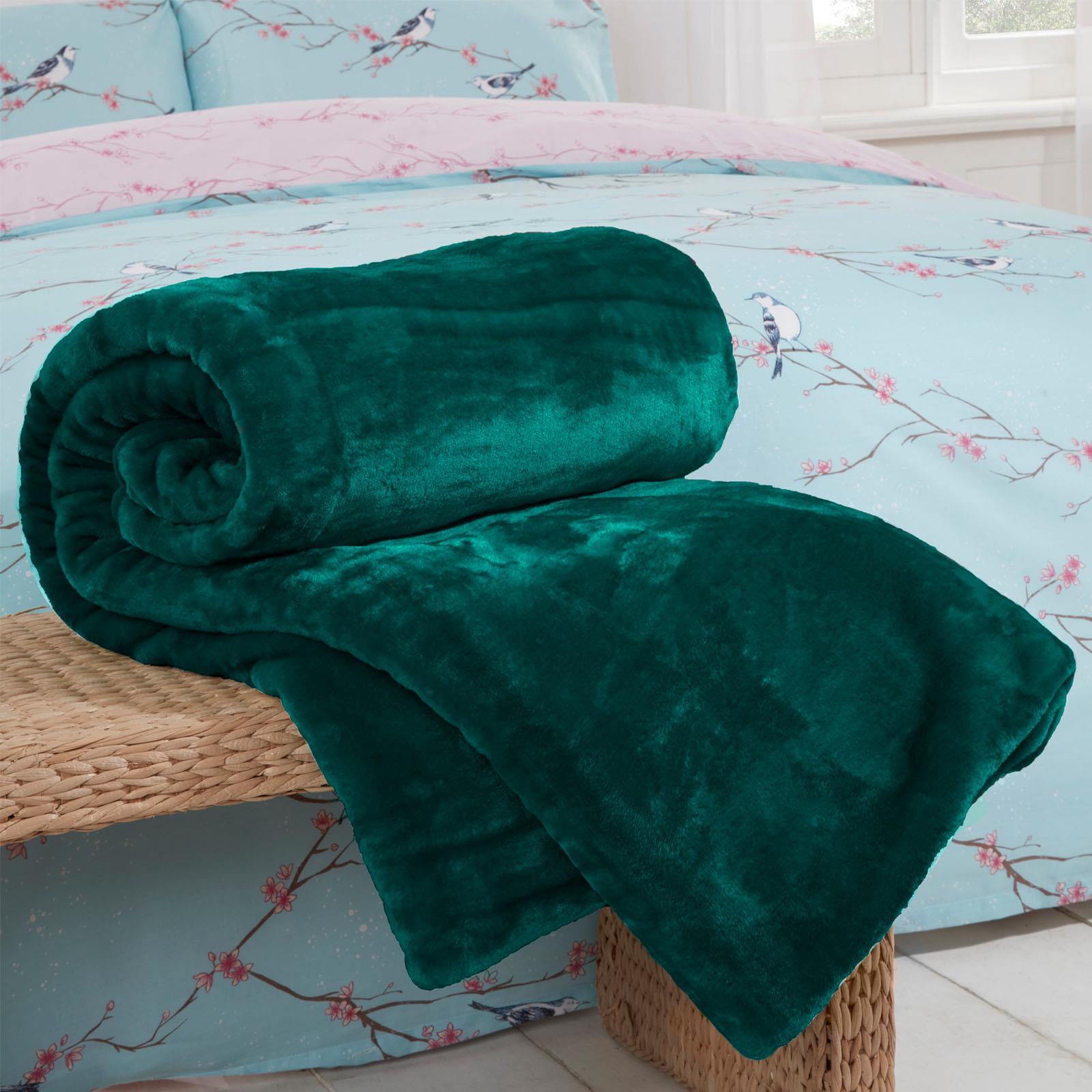 thumbnail 8 - Dreamscene Large Luxury Faux Fur Throw Sofa Bed Mink Soft Warm Fleece Blanket