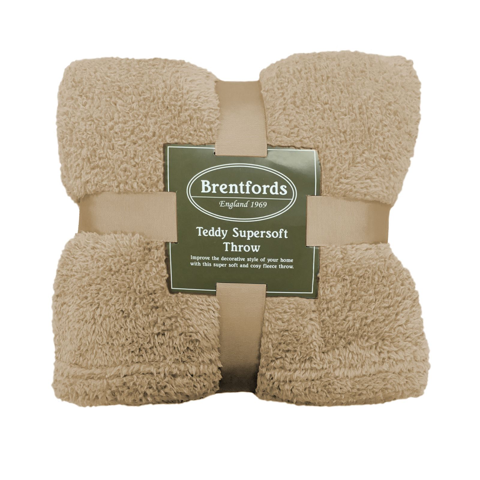 thumbnail 46 - Brentfords Teddy Fleece Bear Blanket Large Throw Over Bed Plush Soft Bedspread