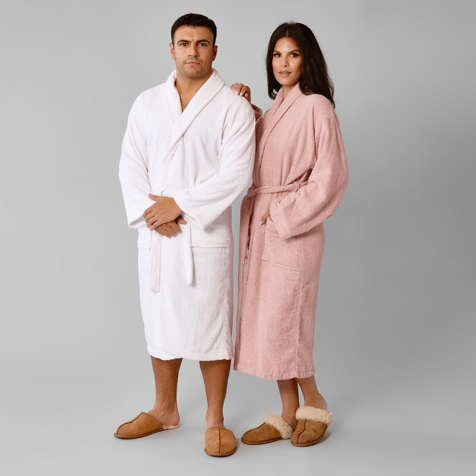 thumbnail 20 - Brentfords Luxury 100% Cotton Bath Robe Terry Towel Soft Dressing Gown Unisex