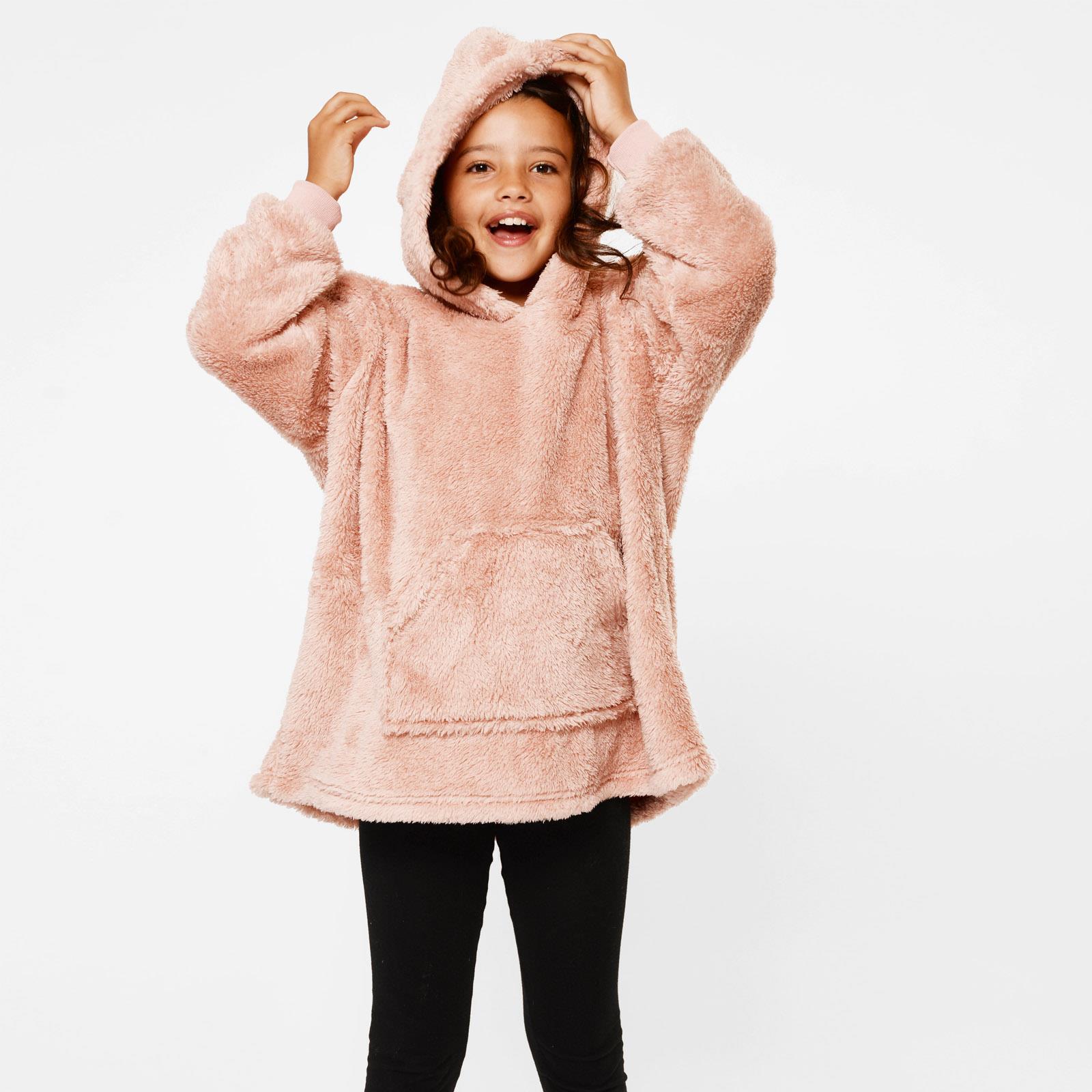thumbnail 11 - Brentfords-Teddy-Fleece-Hoodie-Blanket-Oversized-Giant-Wearable-Adults-Kids-UK