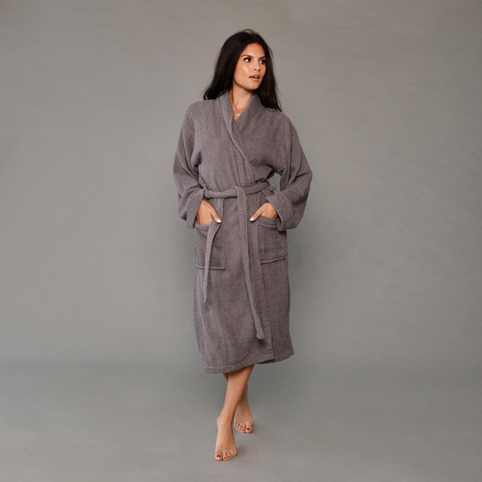 thumbnail 12 - Brentfords Luxury 100% Cotton Bath Robe Terry Towel Soft Dressing Gown Unisex