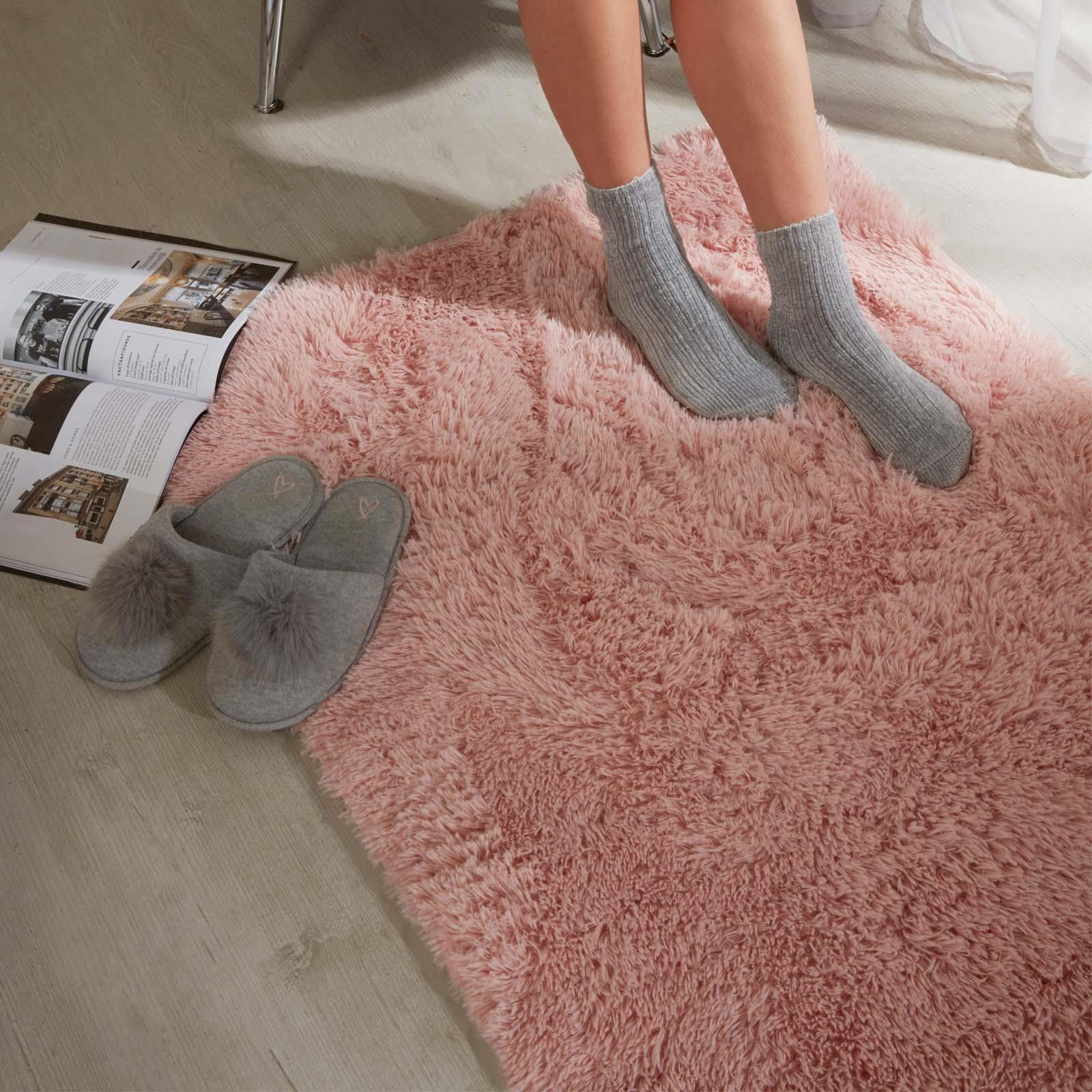 Sienna-Fluffy-Rug-Anti-Slip-Skid-Shaggy-Large-Bedroom-Non-Shed-Floor-Carpet-Mat thumbnail 4