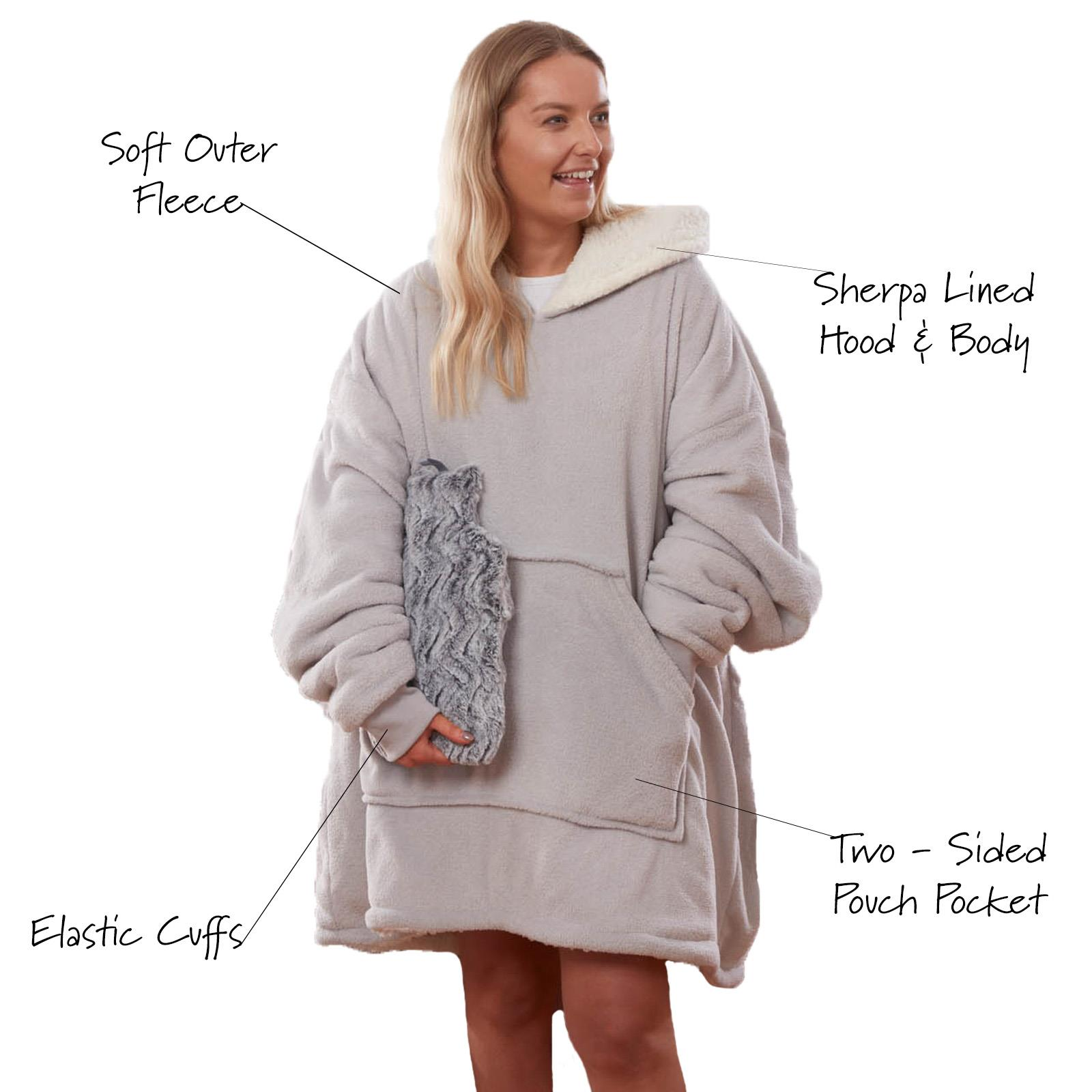 Sienna-Hoodie-Blanket-Oversized-Ultra-Plush-Sherpa-Giant-Big-Hooded-Sweatshirt thumbnail 23