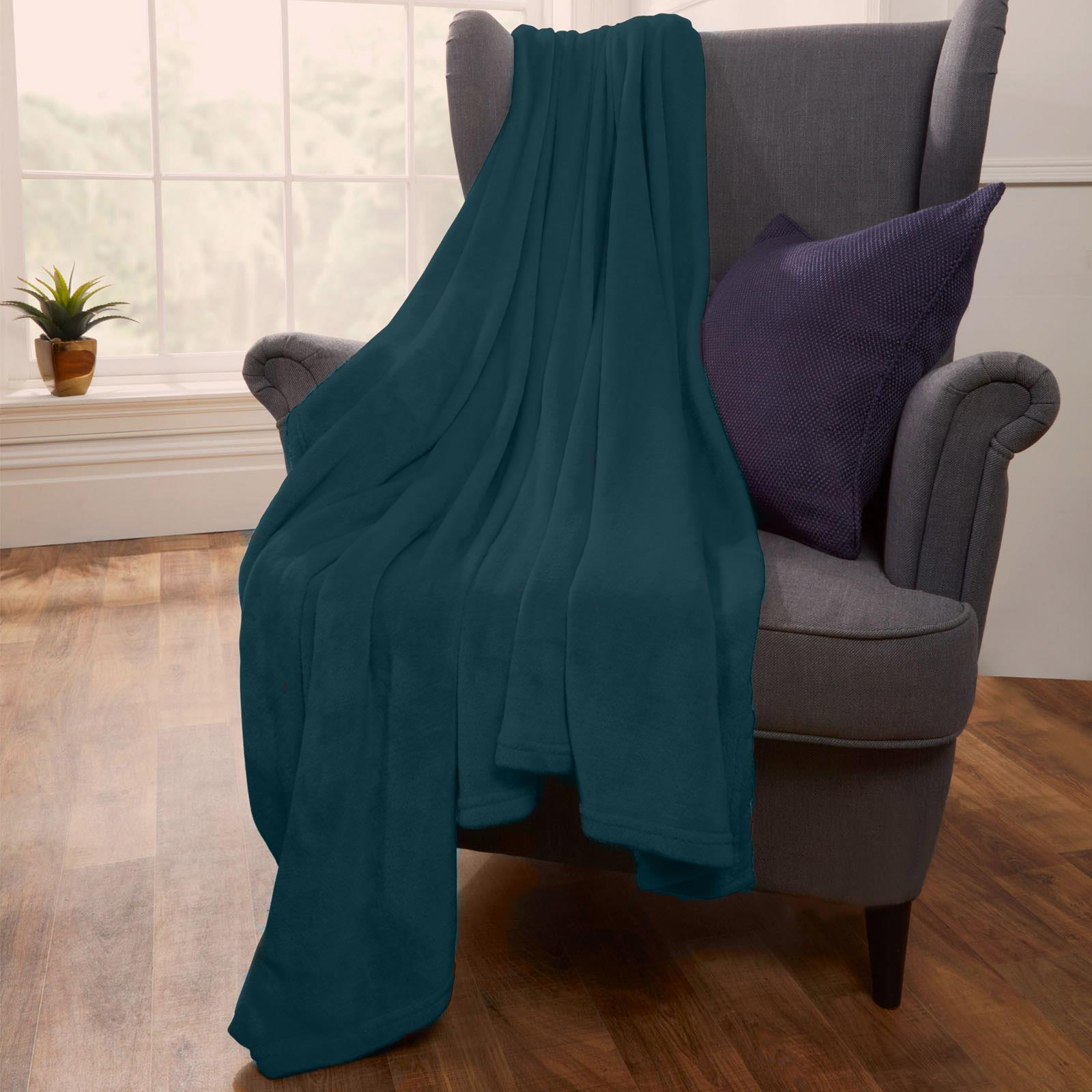 thumbnail 29 - Brentfords Large Flannel Fleece Bed Blanket Warm Throw Over Ultra Soft Bed Sofa