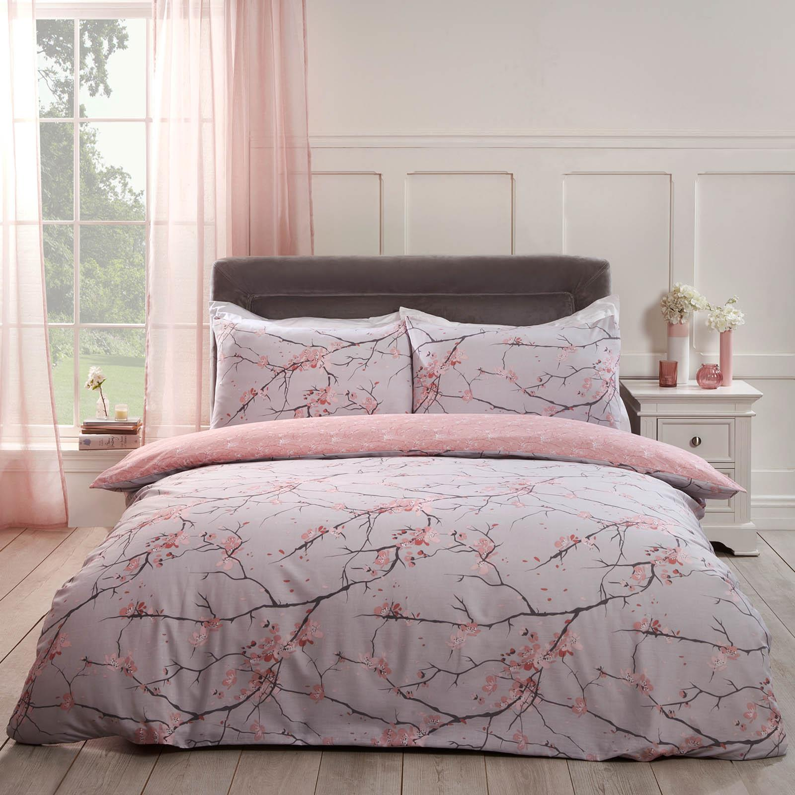 thumbnail 4 - Dreamscene Spring Blossoms Duvet Cover with Pillowcases Bedding Set Blush Ochre