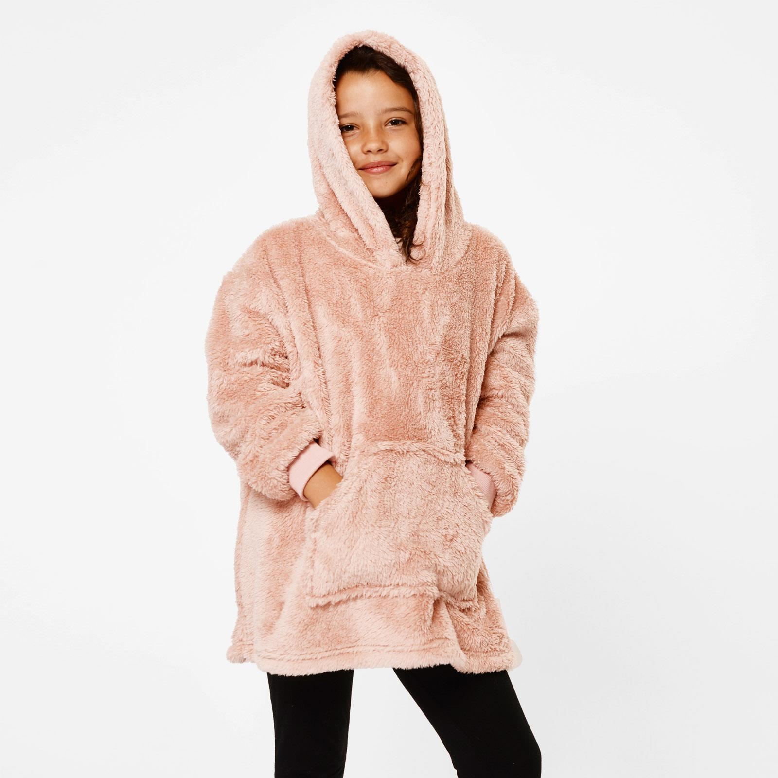 thumbnail 13 - Brentfords-Teddy-Fleece-Hoodie-Blanket-Oversized-Giant-Wearable-Adults-Kids-UK