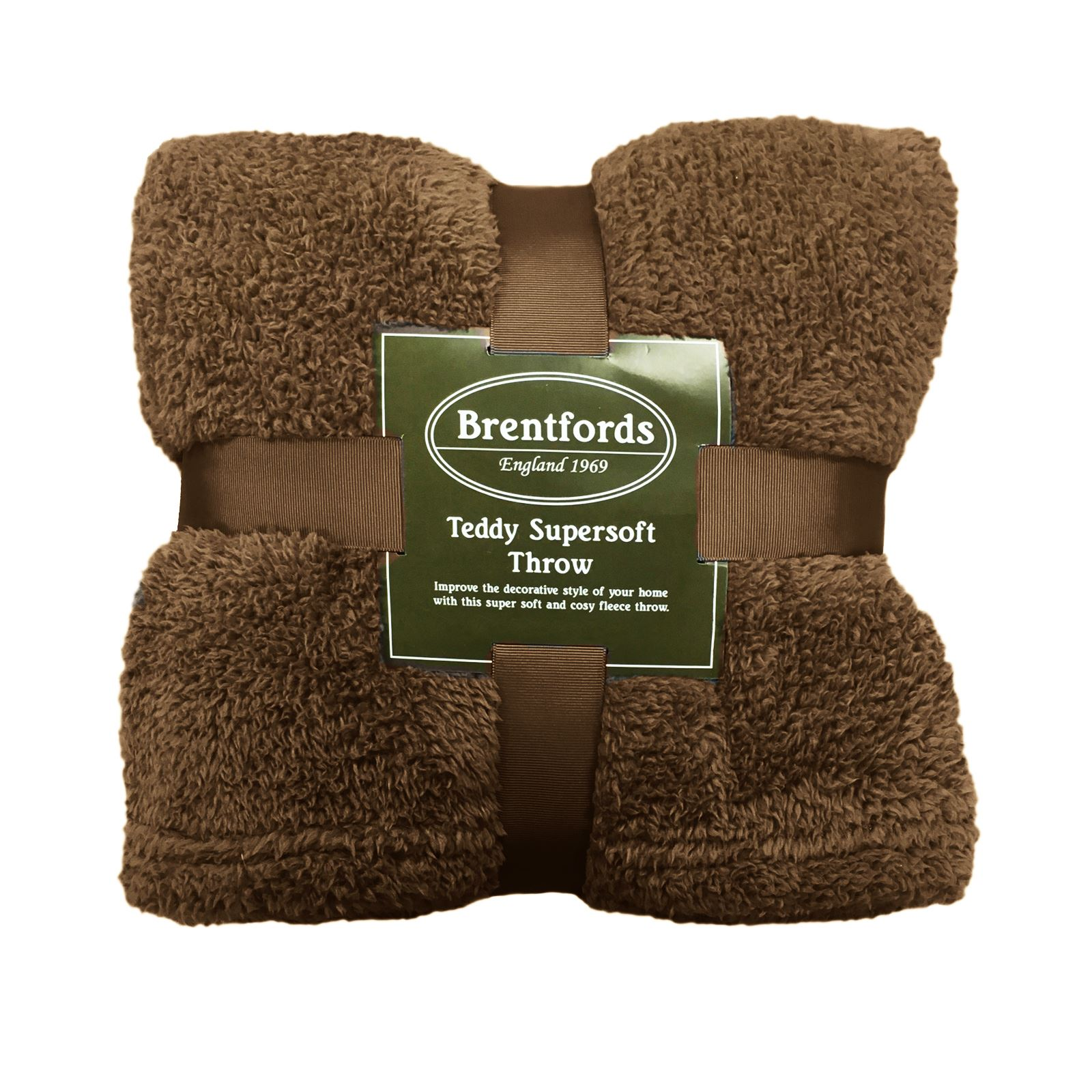 thumbnail 27 - Brentfords Teddy Fleece Bear Blanket Large Throw Over Bed Plush Soft Bedspread