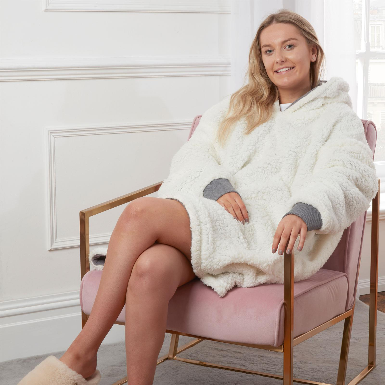Sienna-Hoodie-Blanket-Oversized-Ultra-Plush-Sherpa-Giant-Big-Hooded-Sweatshirt thumbnail 11